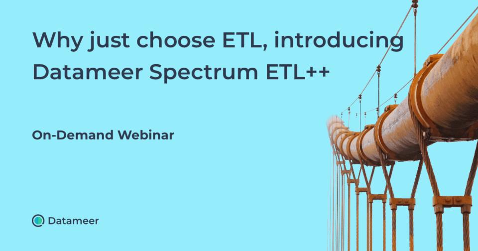 Datameer Spectrum ETL ++