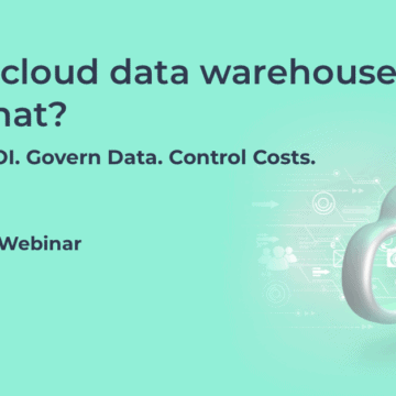 Have a cloud data warehouse, now what?