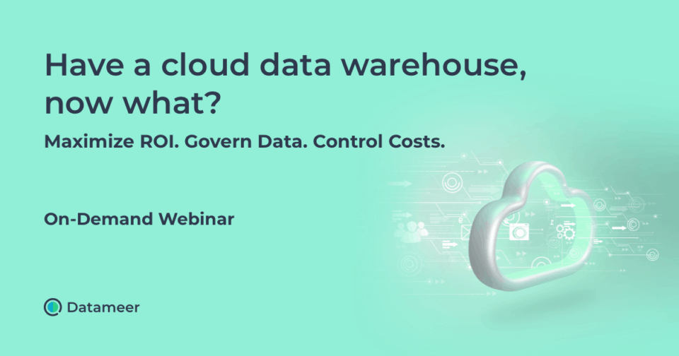 Have a Cloud Data, Now What? After