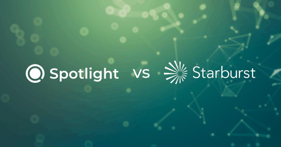 Datameer Spotlight versus Starburst Data